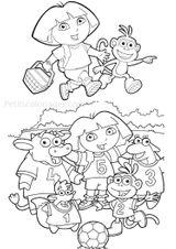 Imprimer le coloriage : Dora, numéro 141986