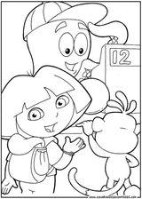 Imprimer le coloriage : Dora, numéro 141987