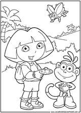 Imprimer le coloriage : Dora, numéro 146186