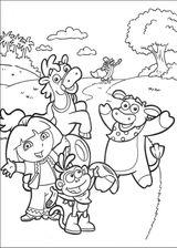 Imprimer le coloriage : Dora, numéro 146189