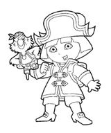 Imprimer le coloriage : Dora, numéro 152e0de1