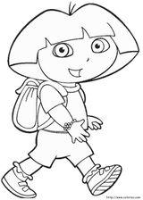 Imprimer le coloriage : Dora, numéro 17066