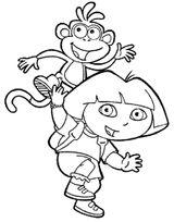 Imprimer le coloriage : Dora, numéro 17067