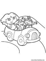 Imprimer le coloriage : Dora, numéro 17074