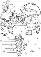 Imprimer le coloriage : Dora, numéro 180781