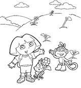 Imprimer le coloriage : Dora, numéro 18310
