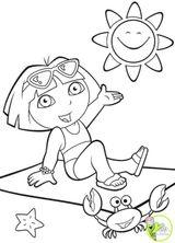 Imprimer le dessin en couleurs : Dora, numéro 19488