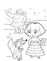 Imprimer le coloriage : Dora, numéro 1b5bc01b