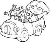 Imprimer le coloriage : Dora, numéro 1e2b4d5e