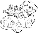Imprimer le coloriage : Dora, numéro 3471