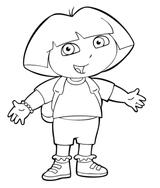 Imprimer le coloriage : Dora, numéro 3475