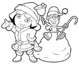 Imprimer le coloriage : Dora, numéro 3500