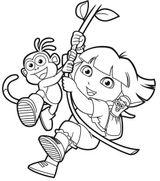 Imprimer le coloriage : Dora, numéro 3502