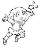 Imprimer le coloriage : Dora, numéro 5327