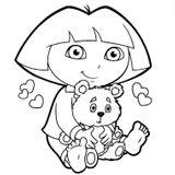 Imprimer le coloriage : Dora, numéro 7209
