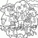 Imprimer le coloriage : Dora, numéro 721