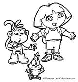 Imprimer le coloriage : Dora, numéro 7214