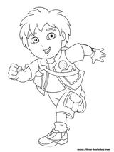 Imprimer le coloriage : Dora, numéro 7220