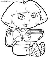 Imprimer le coloriage : Dora, numéro 759859