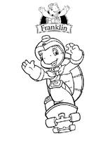 Imprimer le dessin en couleurs : Franklin, numéro 10727