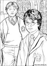 Imprimer le coloriage : Harry Potter, numéro 1642
