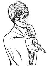 Imprimer le coloriage : Harry Potter, numéro 18303