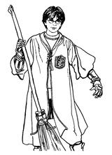 Imprimer le coloriage : Harry Potter, numéro 8506