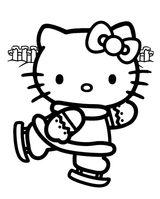 Imprimer le coloriage : Hello Kitty, numéro 113373