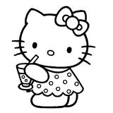 Imprimer le coloriage : Hello Kitty, numéro 113377