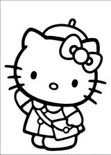 Imprimer le coloriage : Hello Kitty, numéro 113379