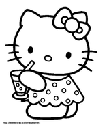 Imprimer le coloriage : Hello Kitty, numéro 113380