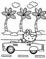 Imprimer le coloriage : Hello Kitty, numéro 113381