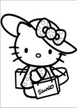 Imprimer le coloriage : Hello Kitty, numéro 113382