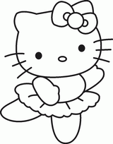 Imprimer le coloriage : Hello Kitty, numéro 114973