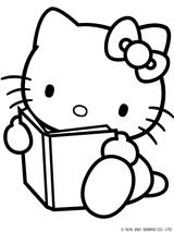Imprimer le coloriage : Hello Kitty, numéro 114974