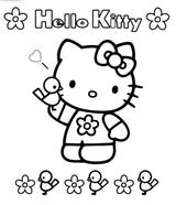 Imprimer le coloriage : Hello Kitty, numéro 11a0f9f5
