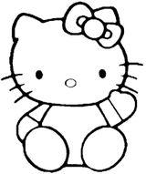 Imprimer le coloriage : Hello Kitty, numéro 127956