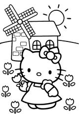 Imprimer le coloriage : Hello Kitty, numéro 127960