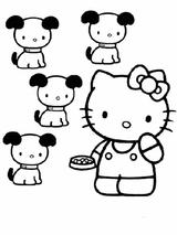 Imprimer le coloriage : Hello Kitty, numéro 127964