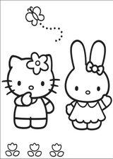 Imprimer le coloriage : Hello Kitty, numéro 127965