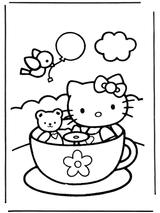 Imprimer le coloriage : Hello Kitty, numéro 127968