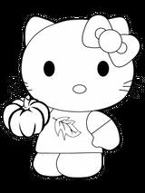 Imprimer le coloriage : Hello Kitty, numéro 127972