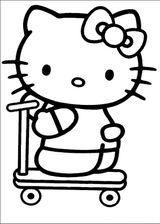 Imprimer le coloriage : Hello Kitty, numéro 127977