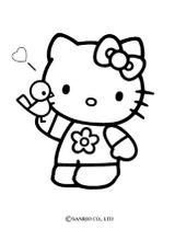 Imprimer le coloriage : Hello Kitty, numéro 127979