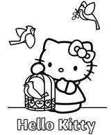 Imprimer le coloriage : Hello Kitty, numéro 127985