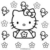 Imprimer le coloriage : Hello Kitty, numéro 127986