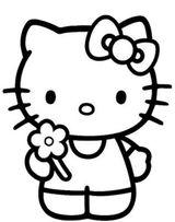 Imprimer le coloriage : Hello Kitty, numéro 17750