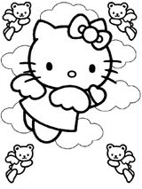 Imprimer le coloriage : Hello Kitty, numéro 27631