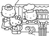 Imprimer le coloriage : Hello Kitty, numéro 29069