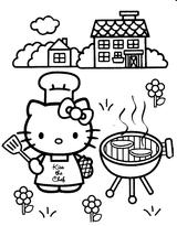 Imprimer le coloriage : Hello Kitty, numéro 4628